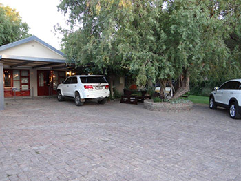 Safe parking at La Paix Guest House